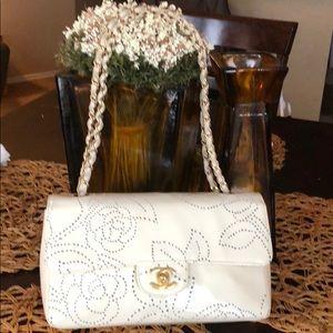 Authentic Chanel camellia bag